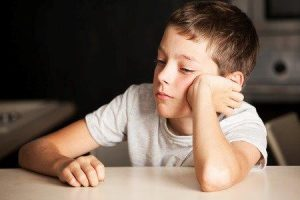 trieste jongen