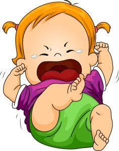 baby huilt van boosheid
