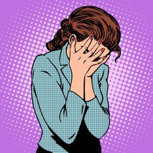 verdrietige vrouw met emotionele pijn